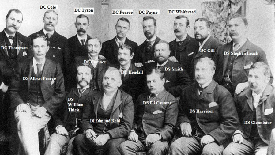 The real H Division police force including DI Edmund Reid