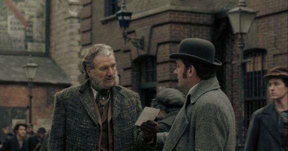 Chief Inspector Frederick Abberline (Clive Russell) and Reid