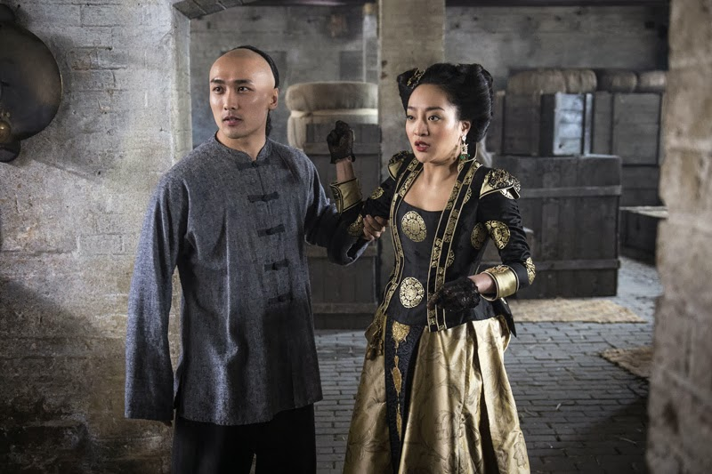 Aaron Ly as Wong King-Fai and Kunjue Li in tonight's 'Ripper Street'