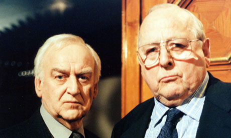 James Grout, right, with John Thaw